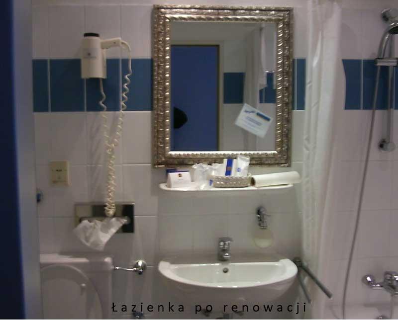 Obraz przedstawia łazienkę po renowacji.